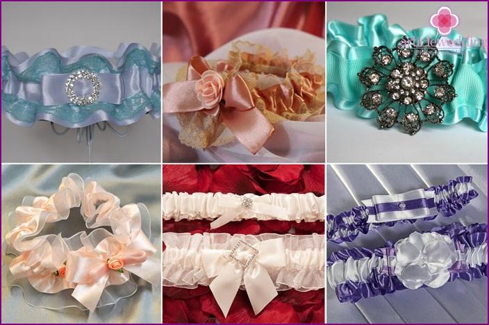 Satin garter for the bride