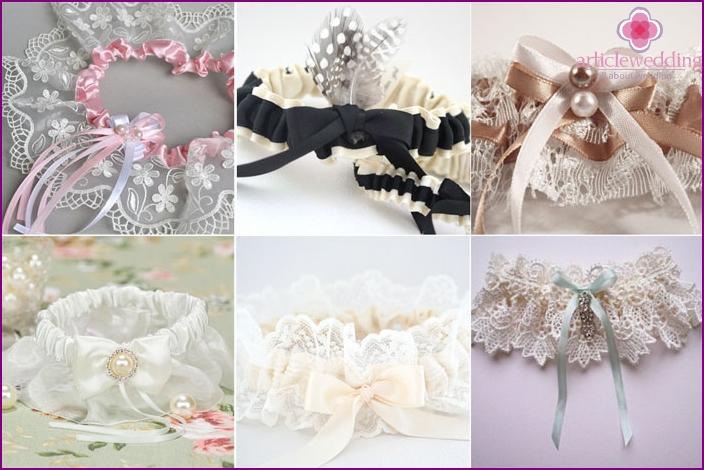 Original and unique wedding garter