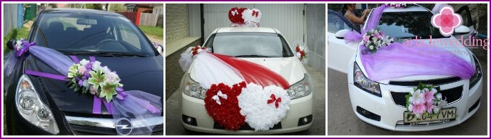 Door handle decor for wedding cars