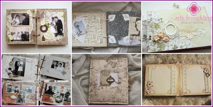 Retro scrapbook for wedding