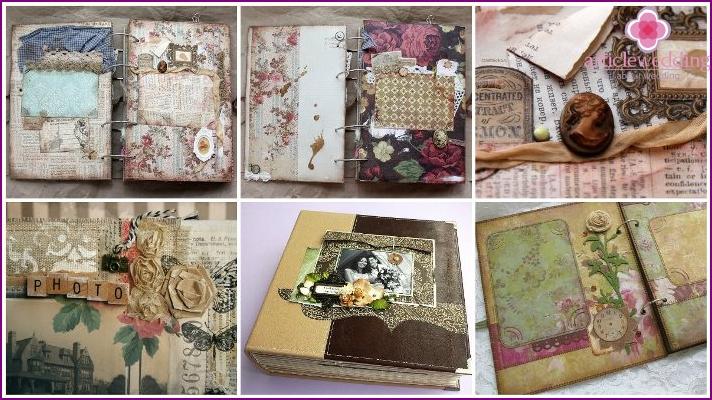Vintage scrapbook bridal album
