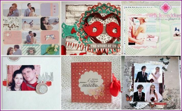 European style scrapbook for wedding