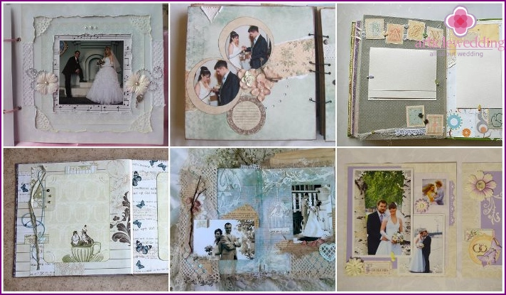 Decoration scrapbook pages wedding album
