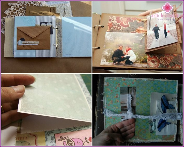 Secrets between the pages of a wedding scrapbook