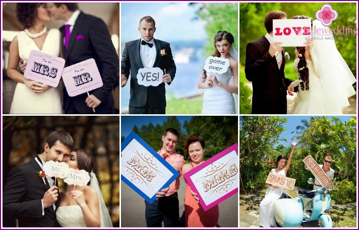 English-language wedding inscriptions