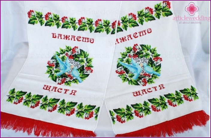 Festive towel with doves
