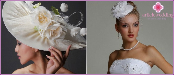 Hats for tall and petite brides