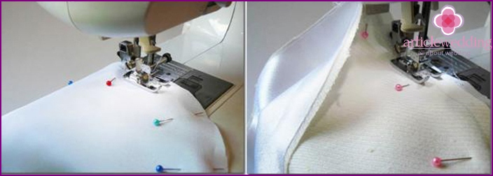 Sewing on a sewing machine