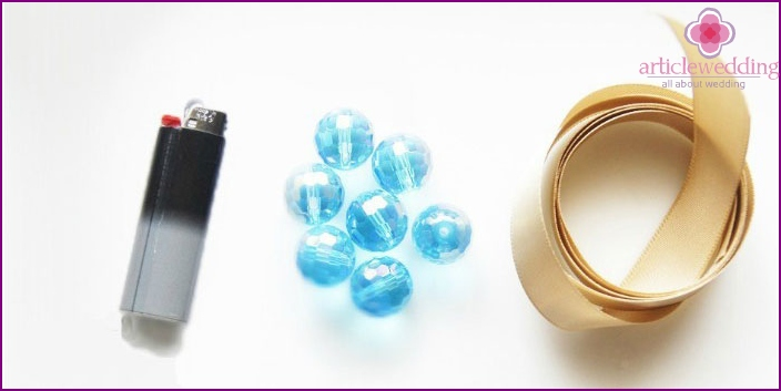 Materials for creating a bracelet for newlywed girlfriends