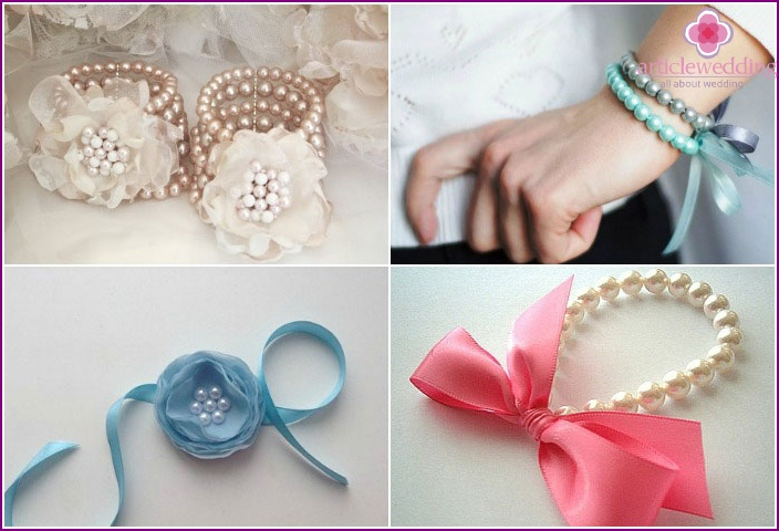 Bridesmaids bracelets with beads