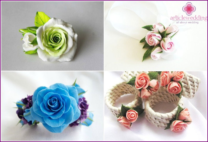 Bracelets for girlfriends of the bride with polymer clay