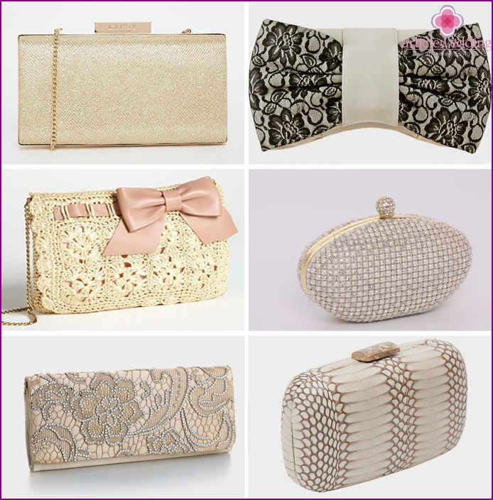 Different clutches for a wedding