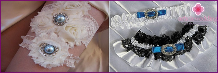 A set of garters in the same style