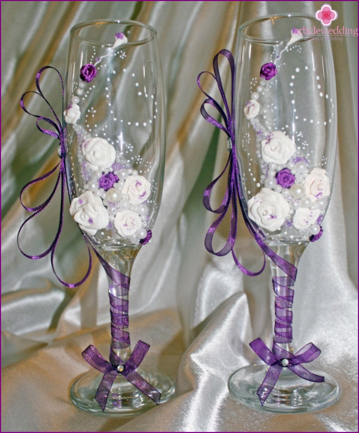 Glasses for newlyweds