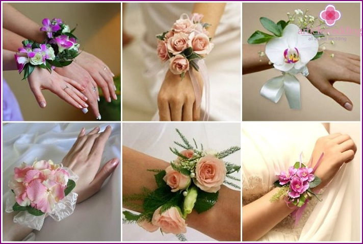 Flower buttonholes for the witness