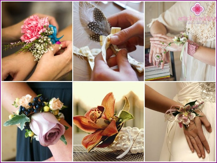 Fancy boutonnieres morsiusneitoon
