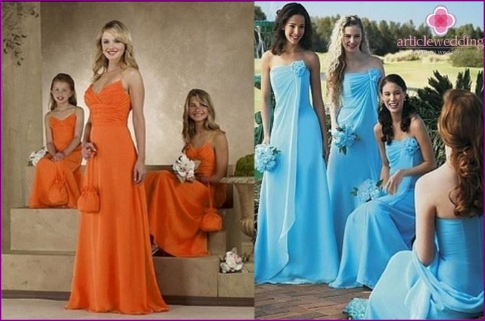 Farbiges Kleid für Freunde