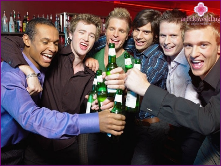 Bachelor party - a task for a witness at a wedding