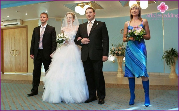 The witness of the groom in the registry office
