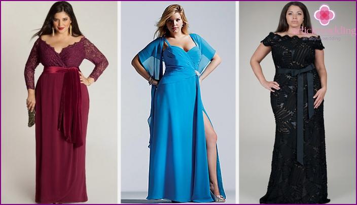 Models of dresses for obese girls