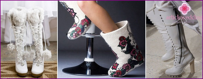 Warm boots for the bride