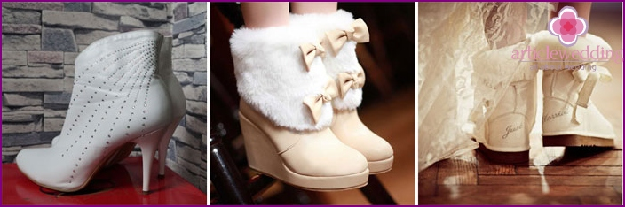 Ankle boots for the bride