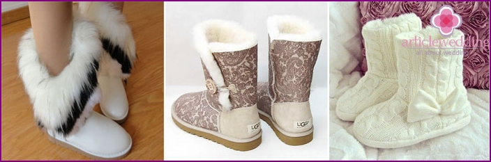 Wedding uggs for the bride and groom