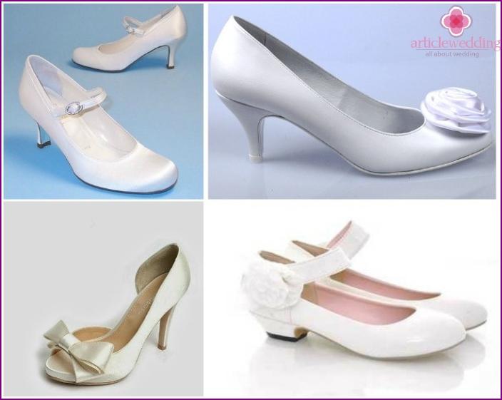 wedding models - low heel