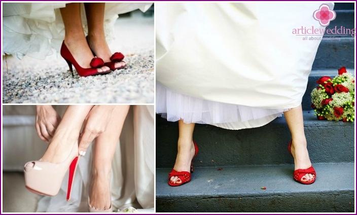 punainen häät kengät