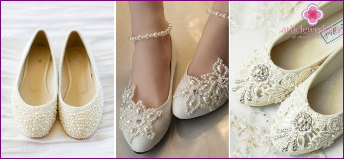 Slippers for a wedding on a low run