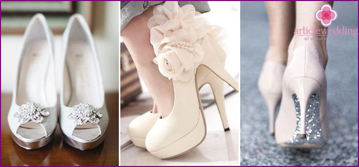 Platform shoes for the wedding