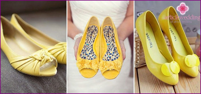 Yellow ballet shoes require yellow accessories