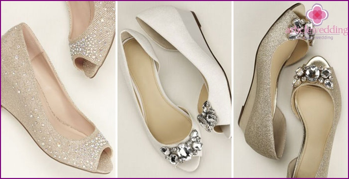Wedges for wedding shoes