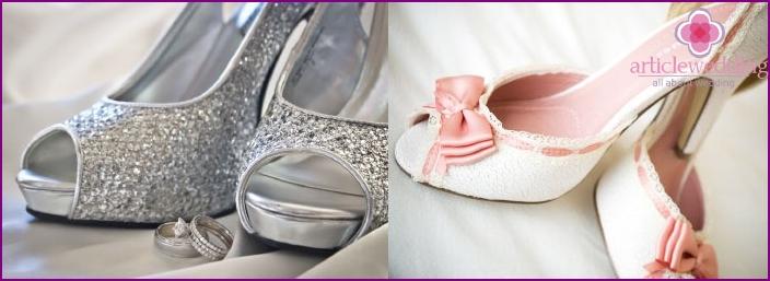 Hochzeitsschuhe Dekorationsoptionen