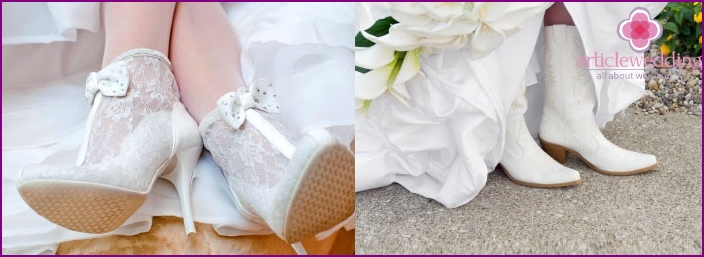Winter shoes for the bride
