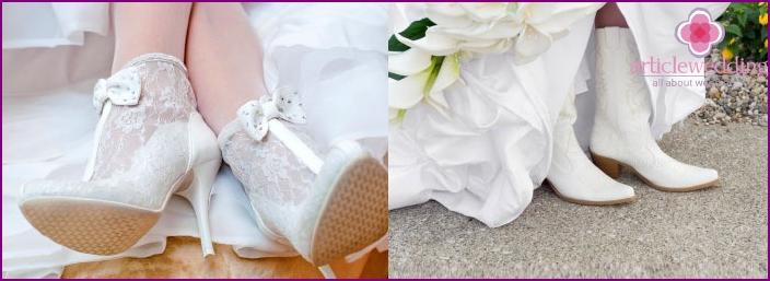 Winterschuhe für die Braut
