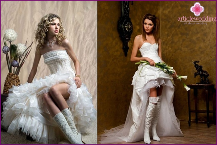Perfect winter wedding boots