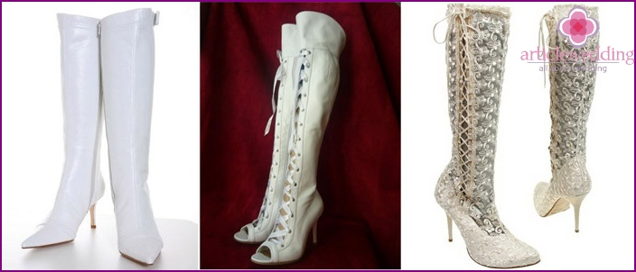 White treads for a wedding