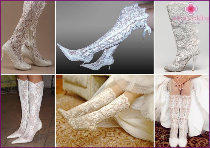 Lace Boots of the Bride
