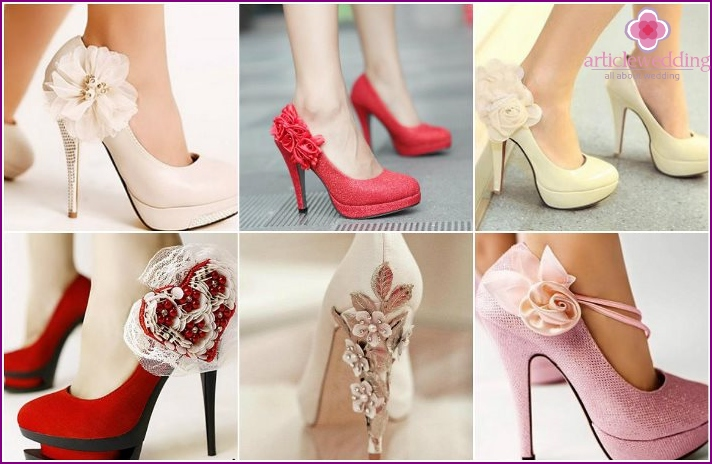 Floral decor shoes