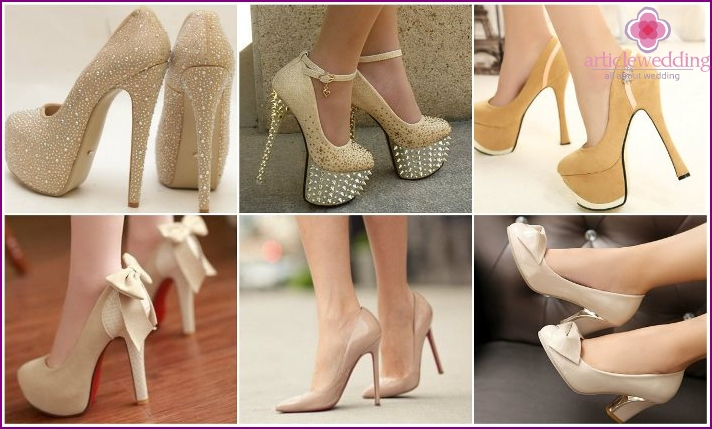 Ivory Wedding Shoes Models