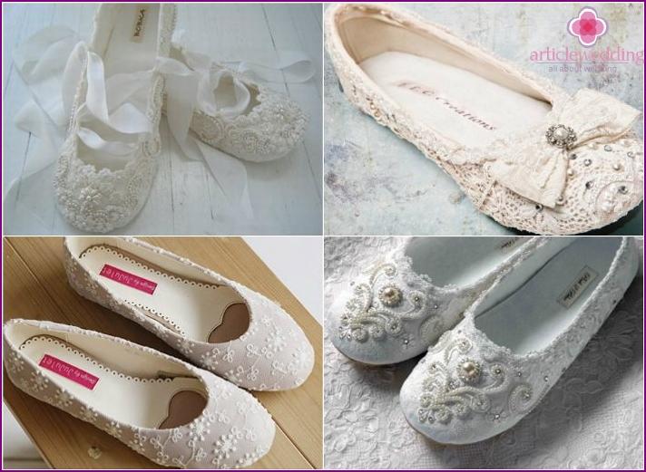 Baletti kengät kesällä häät