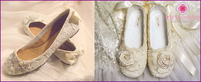 Ivory Honeymoon Ballet Flats