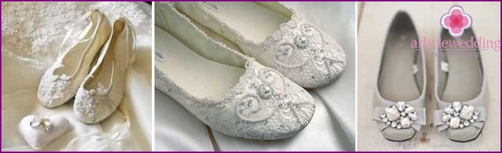 Ballet shoes for a wedding
