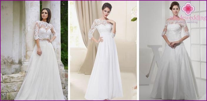 Korsett auf einem Hochzeitskleid