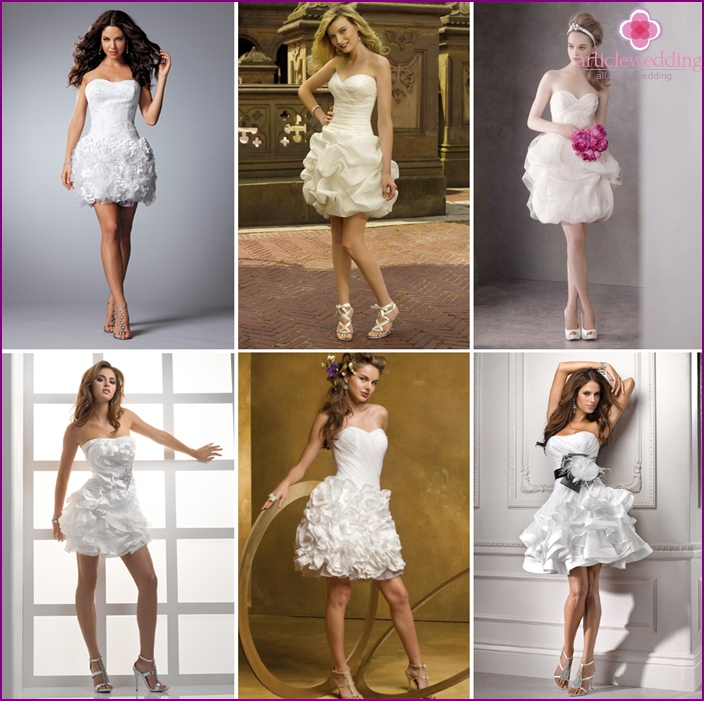 Lush Mini Wedding Dresses