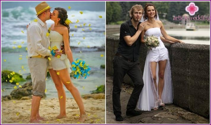 Newlywed Wedding Robe With Shorts
