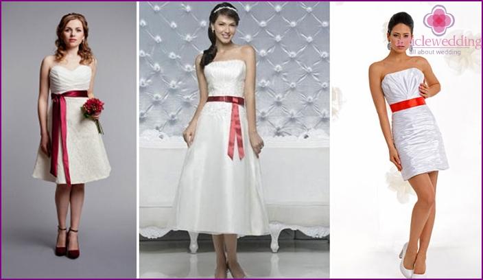 Scarlet Ribbon on Short Wedding Dresses