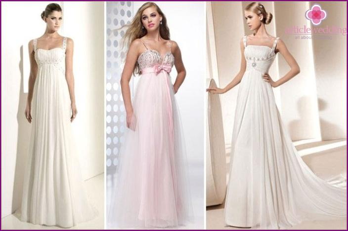 Greek-style bride robe: color schemes