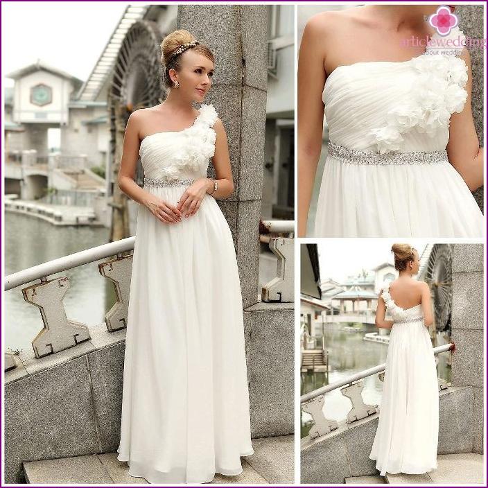 Floral Decoration Camisole Greek Bridesmaid Dresses
